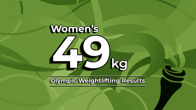 Women's 49kg Olympic Weightlifting Results