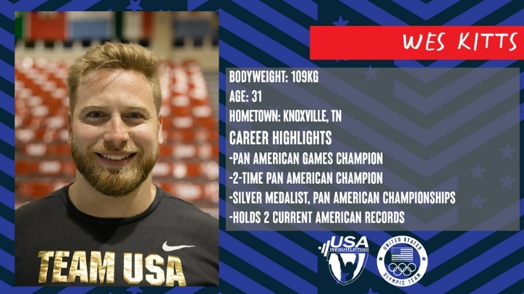 Weightlifter Wes Kitts