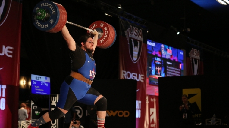 Team USA Weightlifter Caine Wilkes