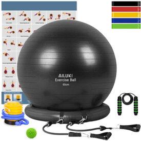 Yoga Ball, 65cm Exercise Ball Fitness Balls