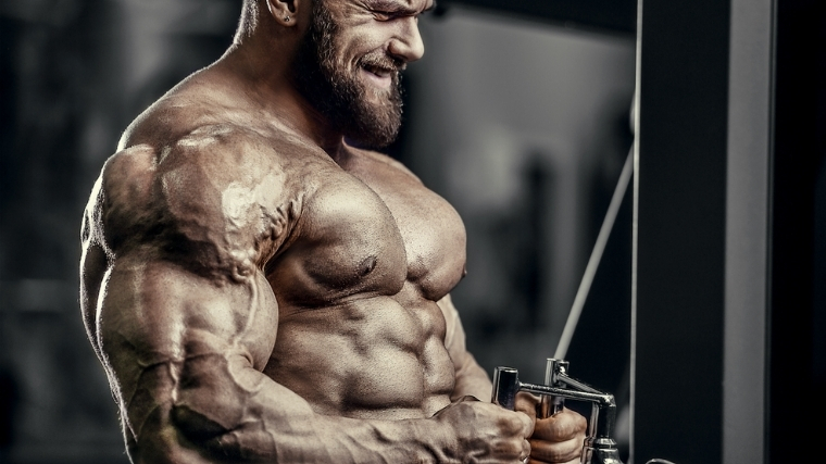man doing cable row