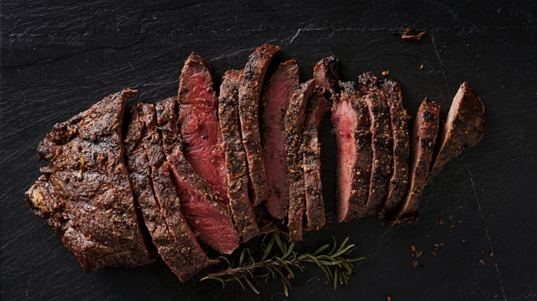 Medium rare steak