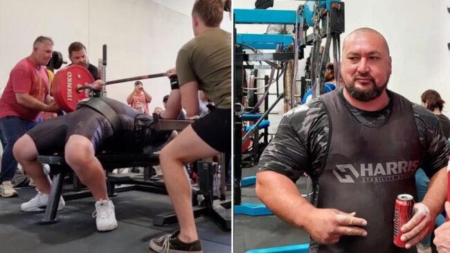 Powerlifter Andrew Cooper