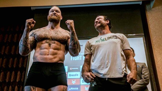 Hafthor Bjornsson Wins First Professional Boxing Match