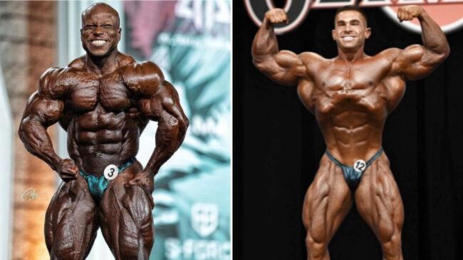 Bodybuilders Shaun Clarida and Derek Lunsford