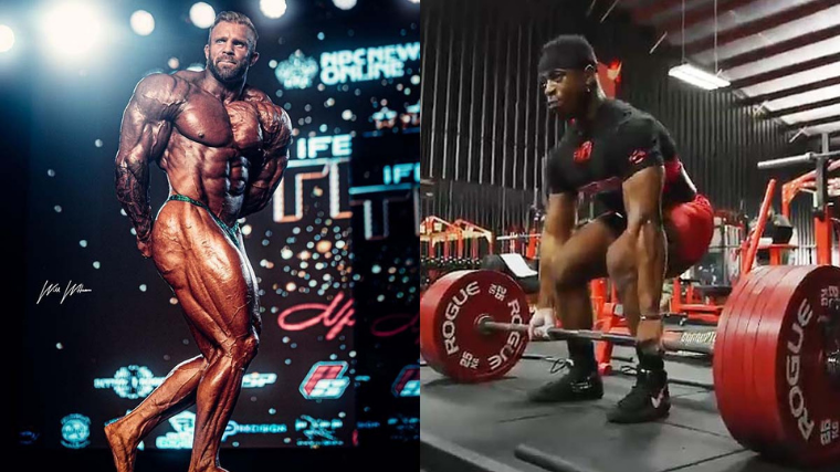 bodybuilder and powerlifter compared